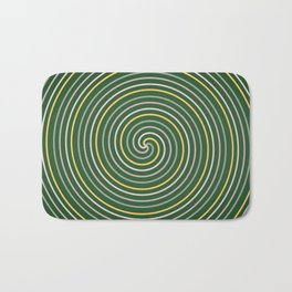 Luminous lines and curves circulate smoothly Bath Mat