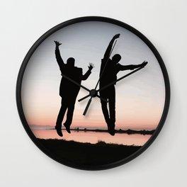 Sunset Jump Wall Clock