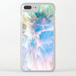 Pastel Stalagmites Colliding in Space Cave Clear iPhone Case