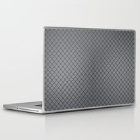 gray pattern Laptop & iPad Skins featuring Gray Plastic Chip Pattern by Tami Cudahy