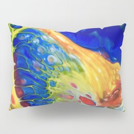 Blue lava Rock Pillow Sham