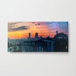 Boston Sunset Timelapse Metal Print