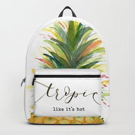Tropic Like it's Hot Pineapple Backpack