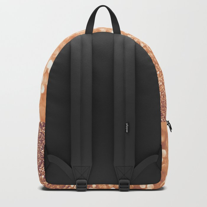 The late Sunset- Rosegold Gold glitter pattern Backpack