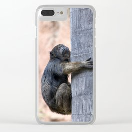 Howler Monkey Hang on tight Clear iPhone Case