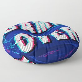 Game Over Glitch Text Distorted Floor Pillow