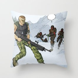Tough Guy in action Throw Pillow
