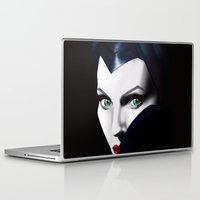 angelina jolie Laptop & iPad Skins featuring Angelina Jolie as Maleficent  by Missy Corey