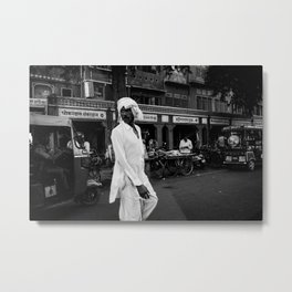 the man all in white Metal Print