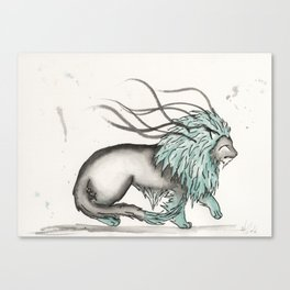 Triclinic the Turquoise Lion. Canvas Print