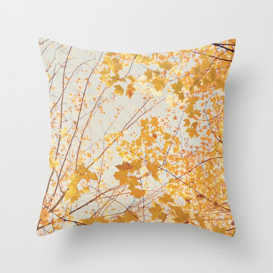 Autumn Orange Throw Pillow