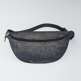 Mount Rainier, WA Topographic Contour Map Fanny Pack
