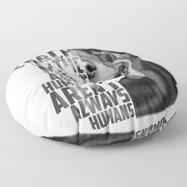 Rottweiler Quote Text Portrait Floor Pillow
