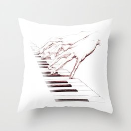 Piano hands Throw Pillow
