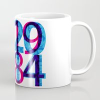 1984 Mugs featuring Orwell 1984 - 2014 by Ned & Ems