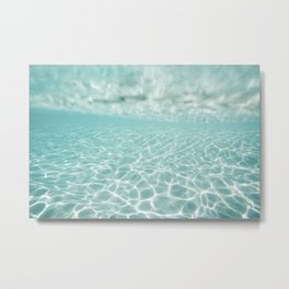 Under Water Light Metal Print