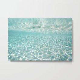 Under Water Light Metal Print