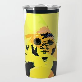 Yellow daisy eyes Travel Mug