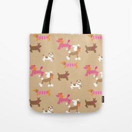 Walkies, Poodles, Sausage dogs and Terriers Tote Bag