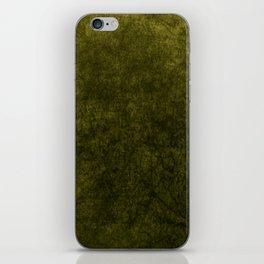 olive green velvet | texture iPhone Skin