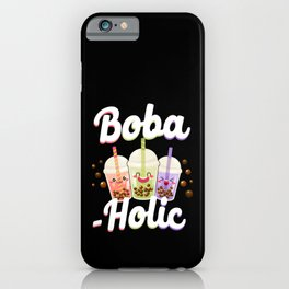 Bubble Boba Tea Boba-holic iPhone Case