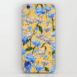 Mums Pattern  |  Yellow-Blue-Cream-White iPhone Skin