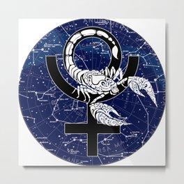 Scorpio, Pluto, Constellations, Astronomy, Astrology, Scorpion Metal Print