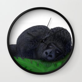 Sleeping Gorilla Wall Clock