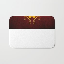 Yellow and Red Twin Tribal Dragons Bath Mat
