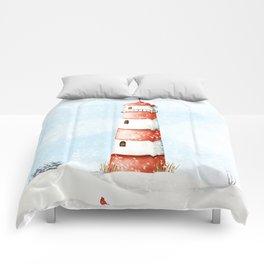 Winter Lighthouse Comforters