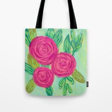 Roses painting chalk Tote Bag