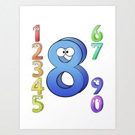 Eight! Art Print