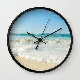 Aloha Kapukaulua Beach Wall Clock
