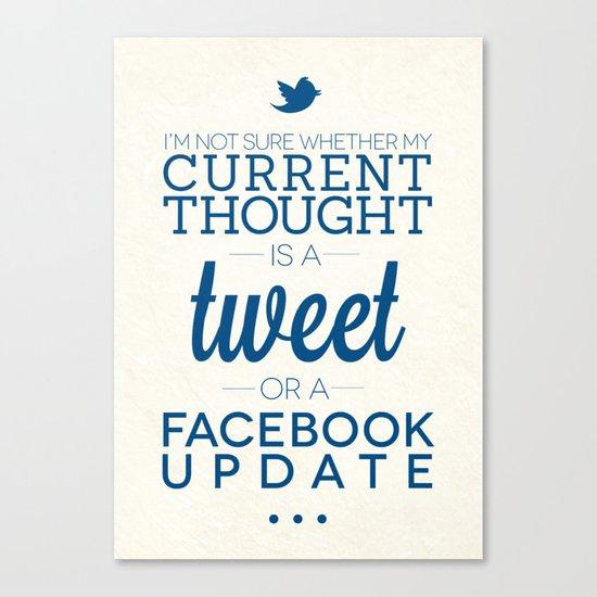 Social Media Canvas Print