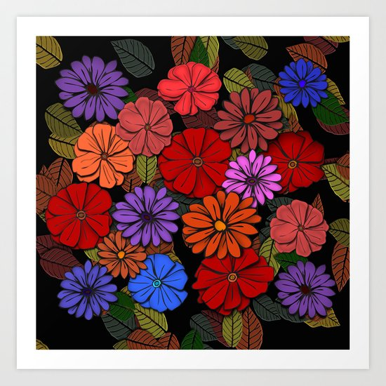 Abstract #393 Flower Power #4 Art Print