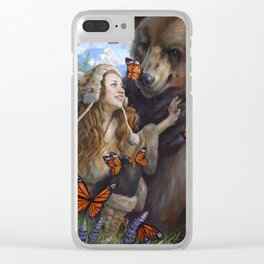 Girl's Best Friend Clear iPhone Case