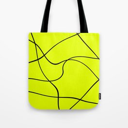 """""""Abstract lines"""" - Black on green Tote Bag"""