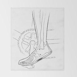 The anatomy of biking Throw Blanket