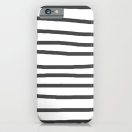 Simply Drawn Stripes in Simply Gray iPhone Case