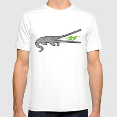 Crocodiles White MEDIUM Mens Fitted Tee
