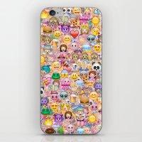 emoji iPhone & iPod Skins featuring emoji / emoticons by Marta Olga Klara