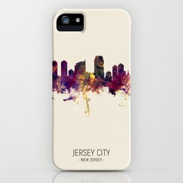 Jersey City New Jersey Skyline iPhone Case