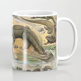 Adolphe Millot - Nouveau Larousse Illustré - Reptiles (1906) Coffee Mug