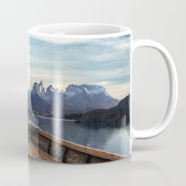 Torres del Paine National Park Chile, The Boat in Patagonia Coffee Mug