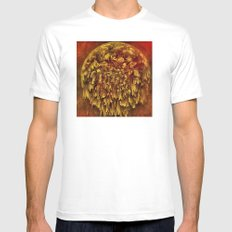 Planet of Flowers MEDIUM White Mens Fitted Tee