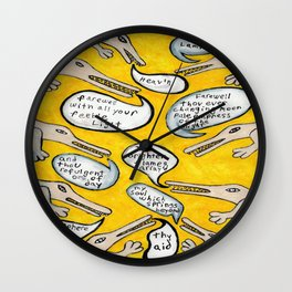 Last words Wall Clock