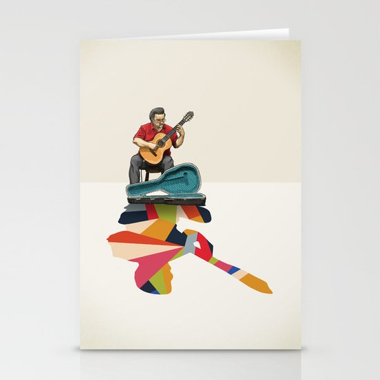 Walking Shadow, Guitarist Stationery Cards