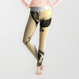 Arch Angel Michael Hand Drawing Leggings