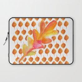 Autumn Leaf Orange Leaves Pattern Laptop Sleeve