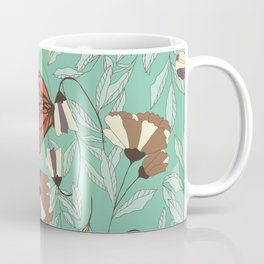 Beautiful Vintage Butterfly And Flower Pattern Coffee Mug